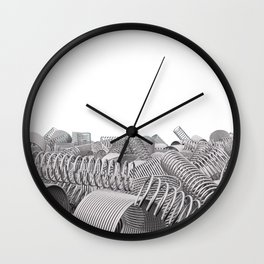 Pile of metal springs and coils Wall Clock