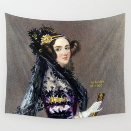 Portrait of Ada Lovelace by Alfred Edward Chalon Wall Tapestry