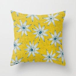 sema yellow blue Throw Pillow