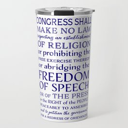 Defend Your Freedom of Speech Travel Mug
