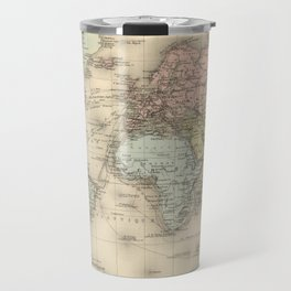 Vintage Map of The World (1892) Travel Mug