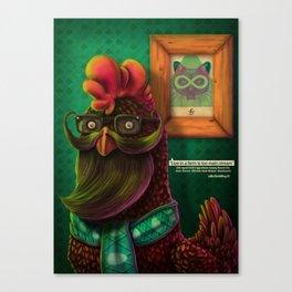 HIPSTER CHICKEN Canvas Print