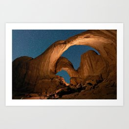 Double  Arch  - Nature Window in Utah Art Print