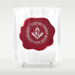 Masonic wax seal Shower Curtain