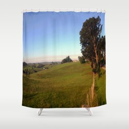 Along a rural Road Shower Curtain