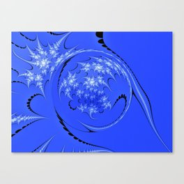 Blue and White Morph Canvas Print