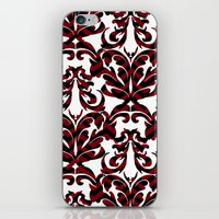 damask iPhone & iPod Skins featuring Damask by Annie Skrmetti