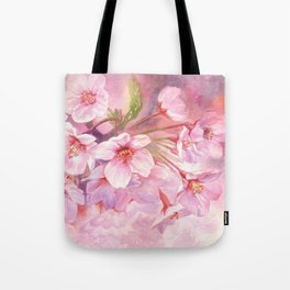 Cherry Blossom Pink Watercolor Illustration. Tote Bag