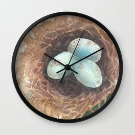 Robins Nest Wall Clock