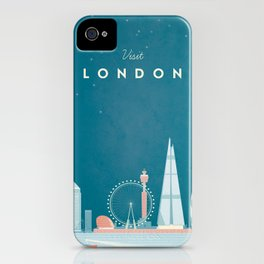 Vintage London Travel Poster iPhone Case