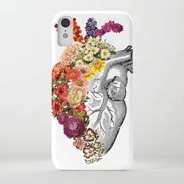 Flower Heart Spring White iPhone Case