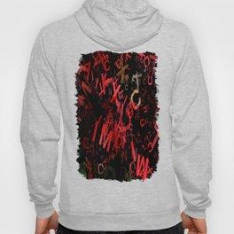 Mottled Red Poinsettia 1 Ephemeral Letters 1 Hoody