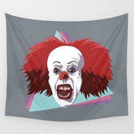 Evil clown it halloween Wall Tapestry