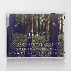 Peace and Love Laptop & iPad Skin