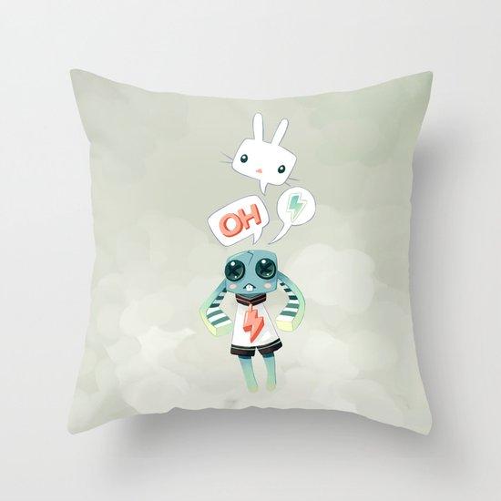 Bunny Doll Throw Pillow