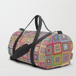 retro squares Duffle Bag