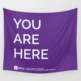 YOU ARE HERE [Gotham Violet] Wall Tapestry