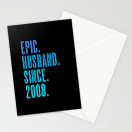 Epic husband since 2008 marriage wedding Stationery Cards