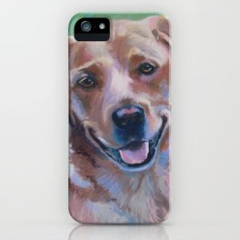 Yellow Lab Pastel Dog Portrait iPhone Case