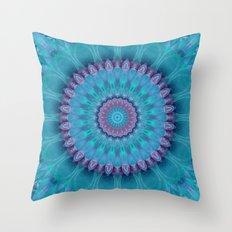 Mandala turquoise no. 2 Throw Pillow