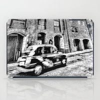 dark side iPad Cases featuring Dark side London Art by David Pyatt