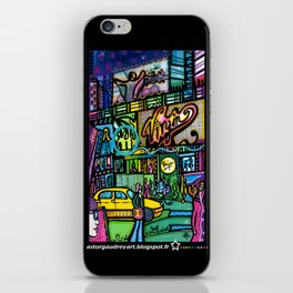 Time square montage 1  iPhone Skin