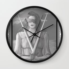 Two of Swords Wall Clock