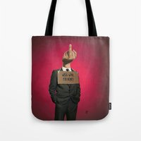 unicorn Tote Bags featuring Unicorn by rob art | illustration