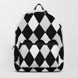 Harlequin Black and White and Gray Backpack