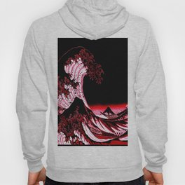 The Great Wave : Red & Black Hoody