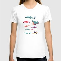 sharks T-shirts featuring Sharks by Simon Alenius