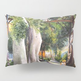 Bridge of sighs painting in Barranco - Lima, Peru #eclecticart Pillow Sham