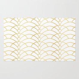 Art Deco Series - Gold & White Rug
