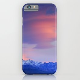 Lenticular clouds over Sierra Nevada National Park iPhone Case