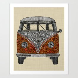 The camper Art Print