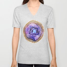 Opal and Gold Agate Unisex V-Neck