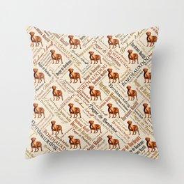 Dogue de Bordeaux Word Art Throw Pillow