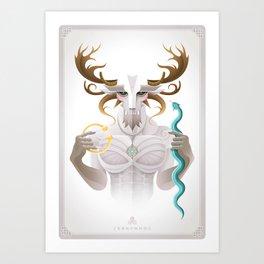 Cernunnos / Animal Gods Art Print
