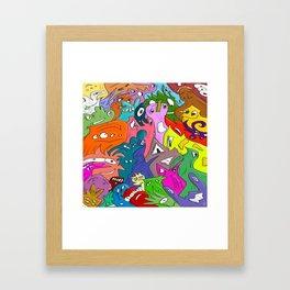 hehehehe Framed Art Print