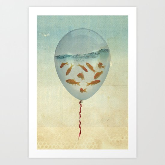balloon fish 03 Art Print