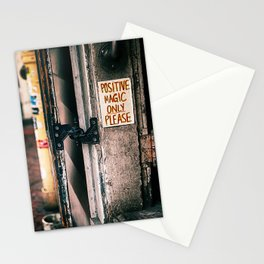 Positive Magic Only Please (color) Stationery Cards