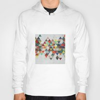xbox Hoodies featuring Colorful Triangles by Dizzy Moments