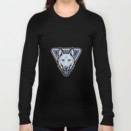 Police Dog Triangle Mascot Long Sleeve T-shirt