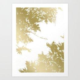 Night's Sky Gold Art Print