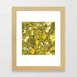 Finally Easter! [mustard] Framed Art Print