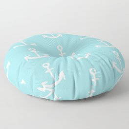 Anchor - mint blue Floor Pillow