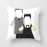 eames Throw Pillows featuring Eames by Analy Diego