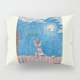 Sometimes even the moon is laughing Pillow Sham