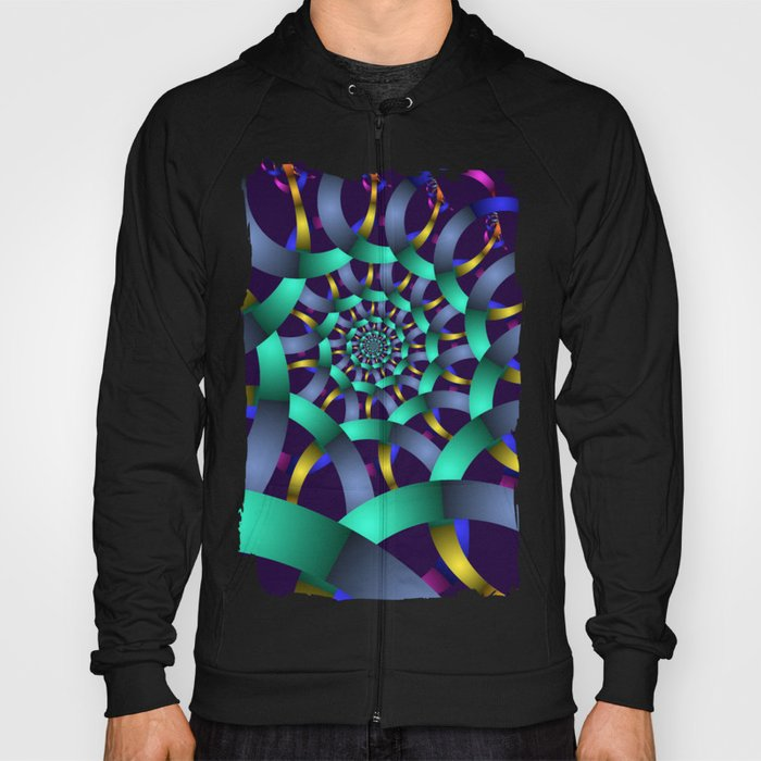 The turquoise spiral Hoody