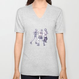 Freud, Jung, and Watts, walk into a bar... Unisex V-Neck